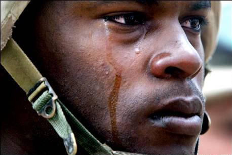marine crying